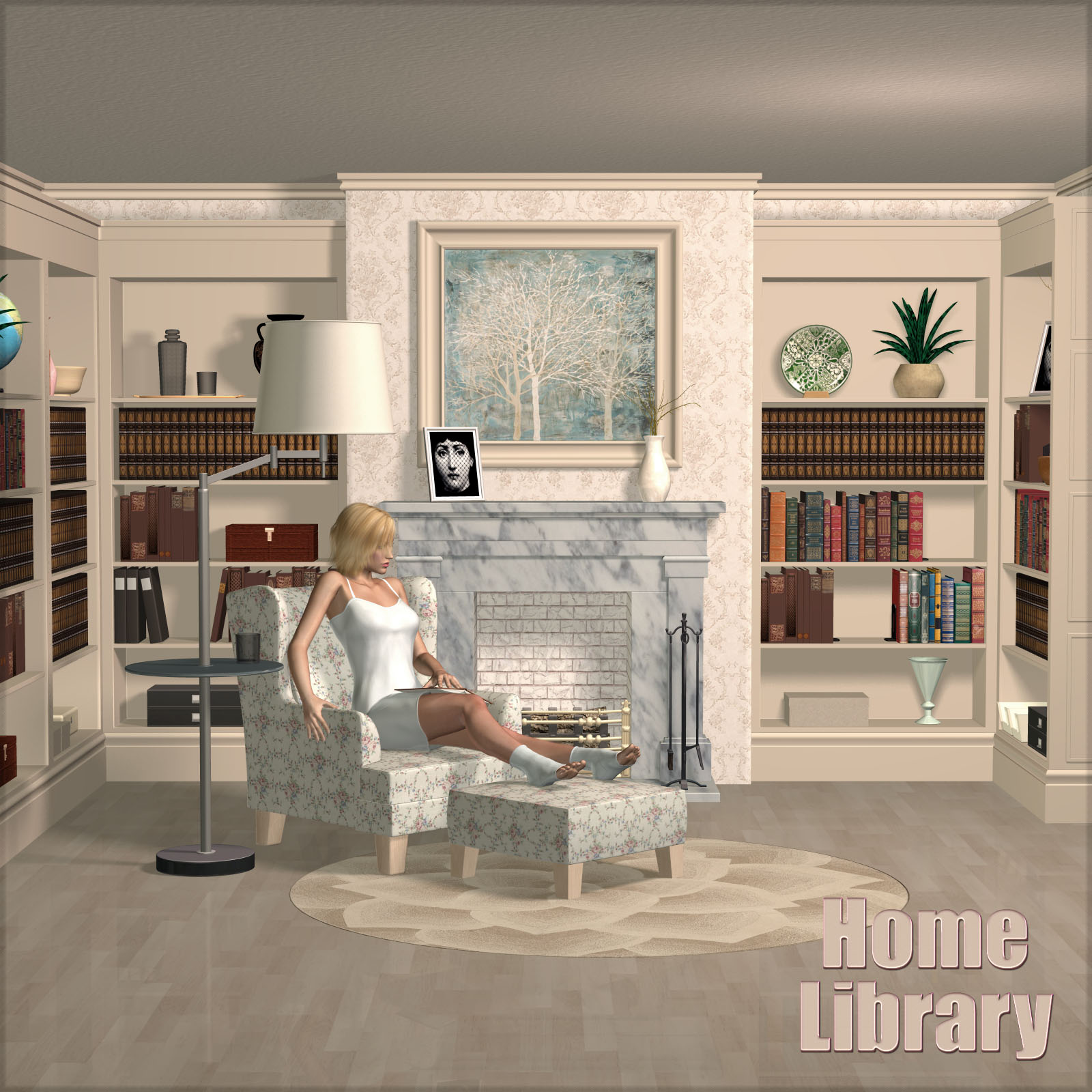 Home Library_DAZ3D下载站