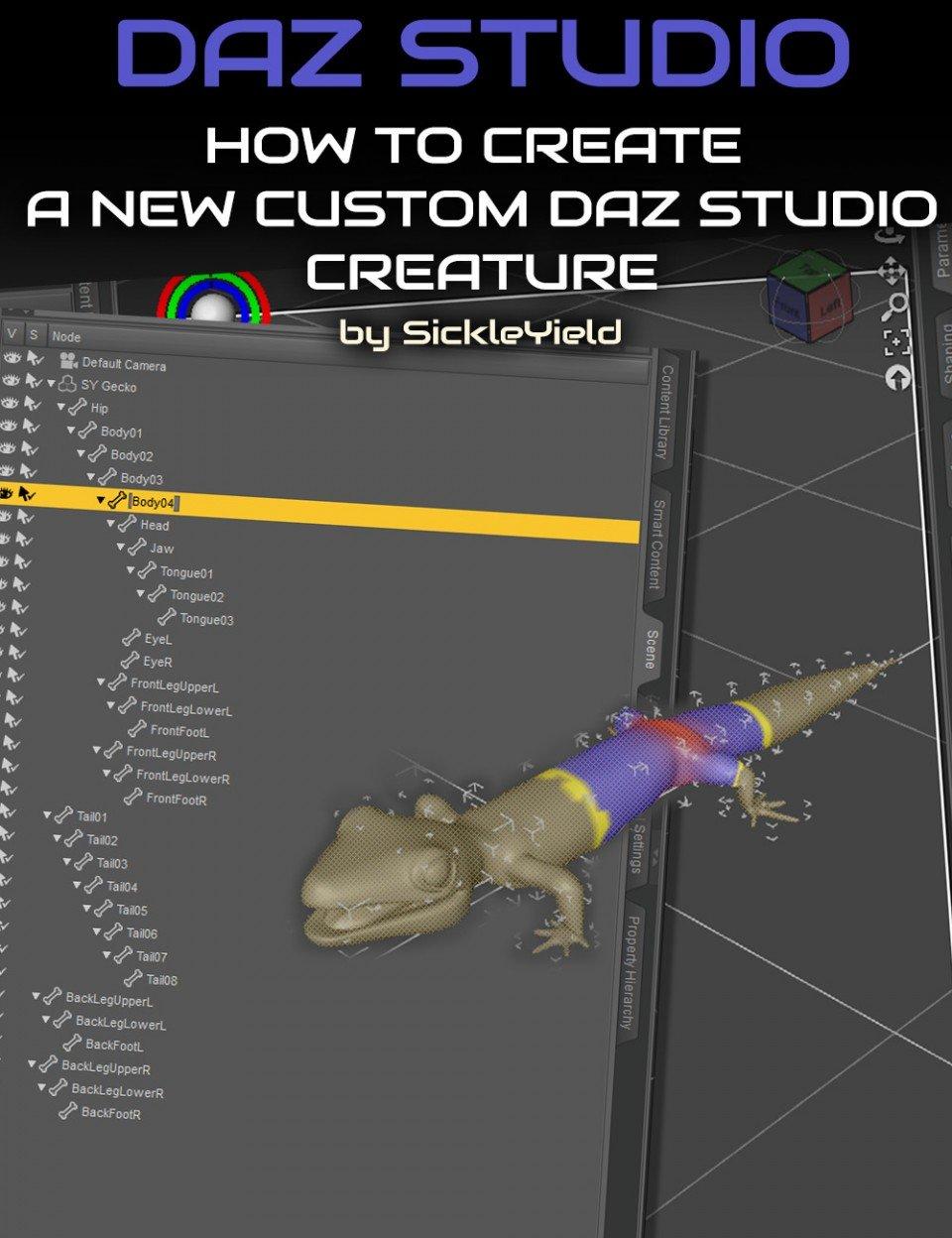 How to Create a New Daz Studio Custom Creature_DAZ3D下载站