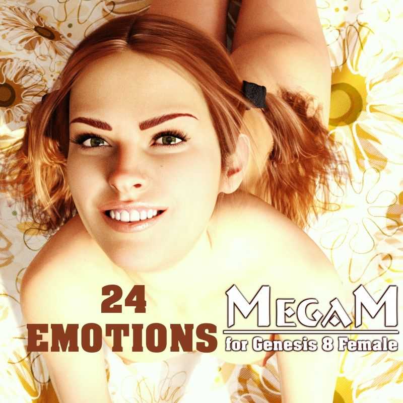 MegaM Emotions for G8F_DAZ3D下载站