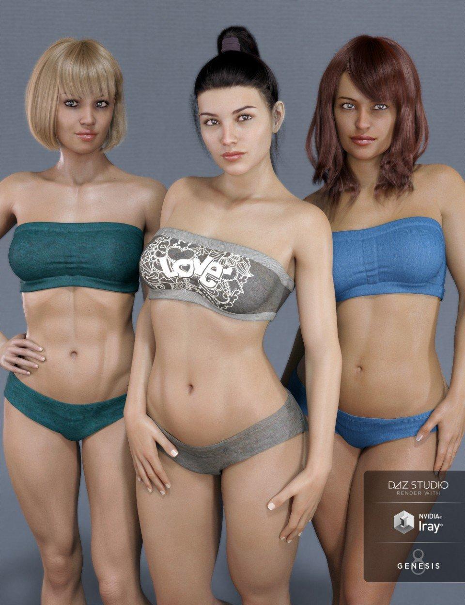Mesmerizing Faces & Bodies for Genesis 8 Female_DAZ3D下载站