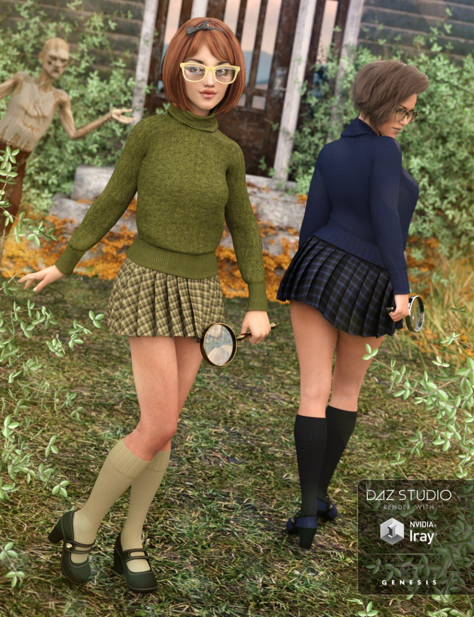 Mystery Solver Outfit Textures_DAZ3D下载站