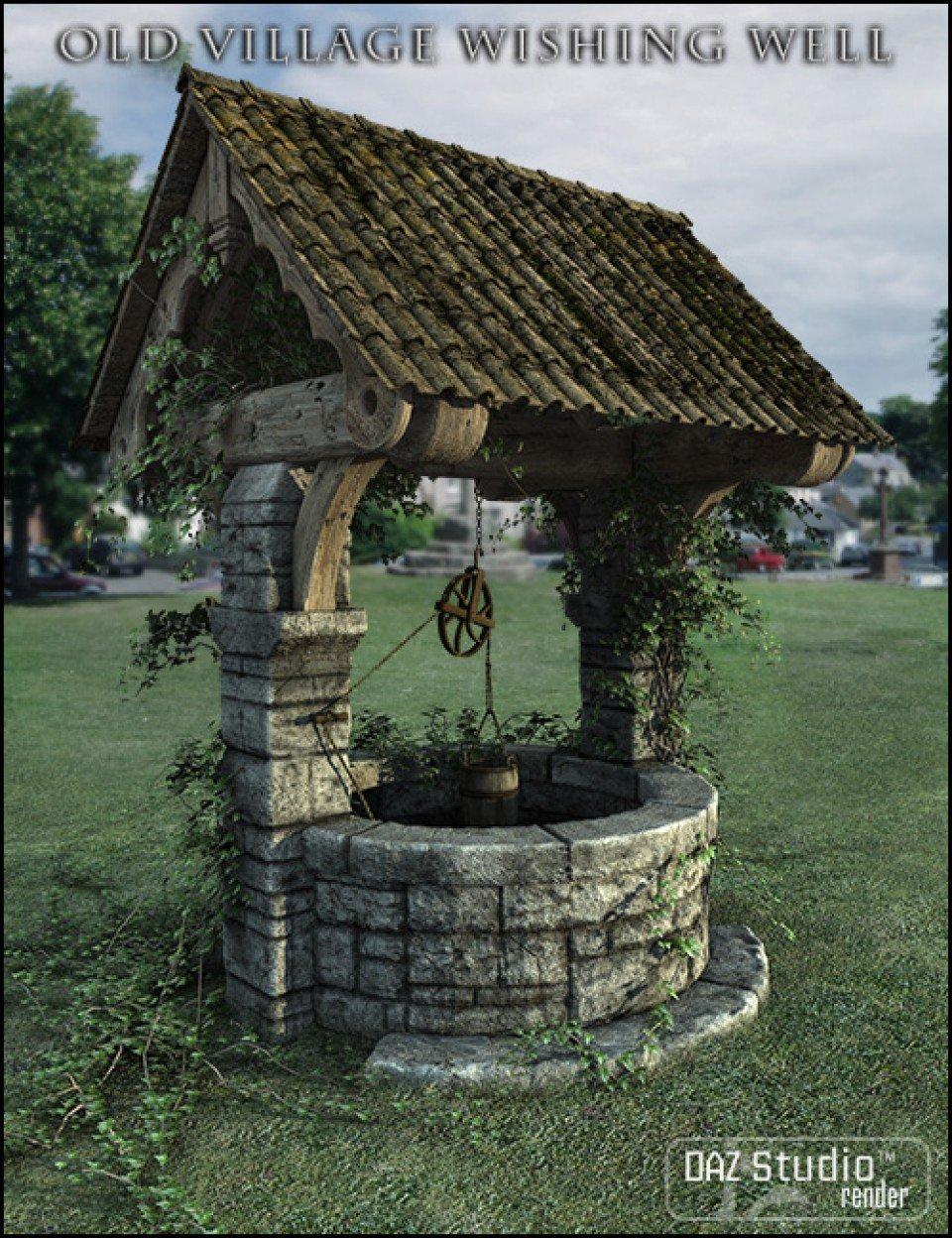 Old Village Wishing Well_DAZ3D下载站