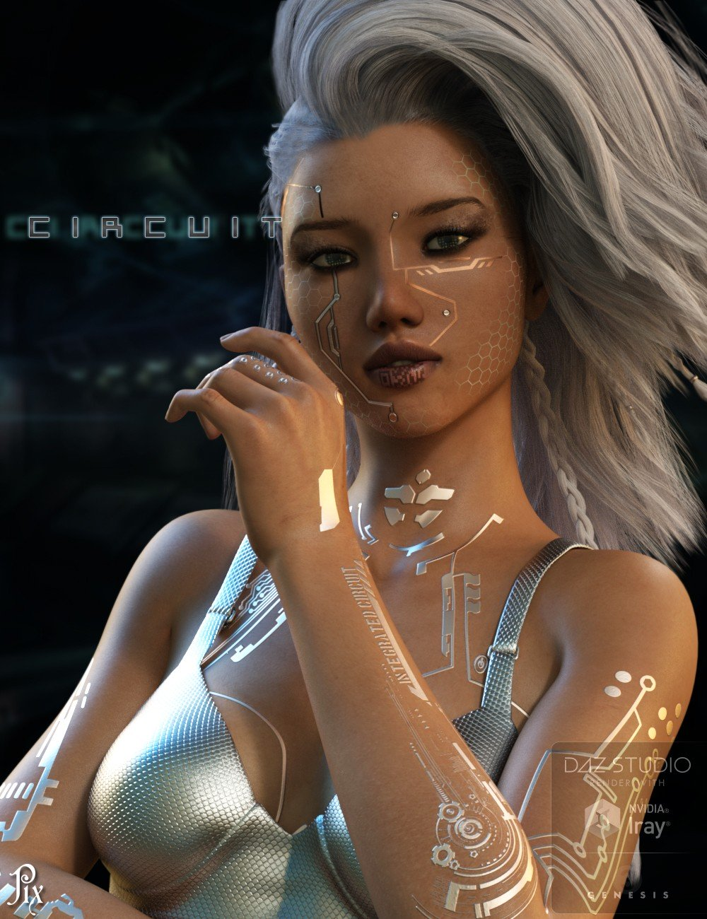 Pix Circuit for Genesis 3 Female_DAZ3D下载站