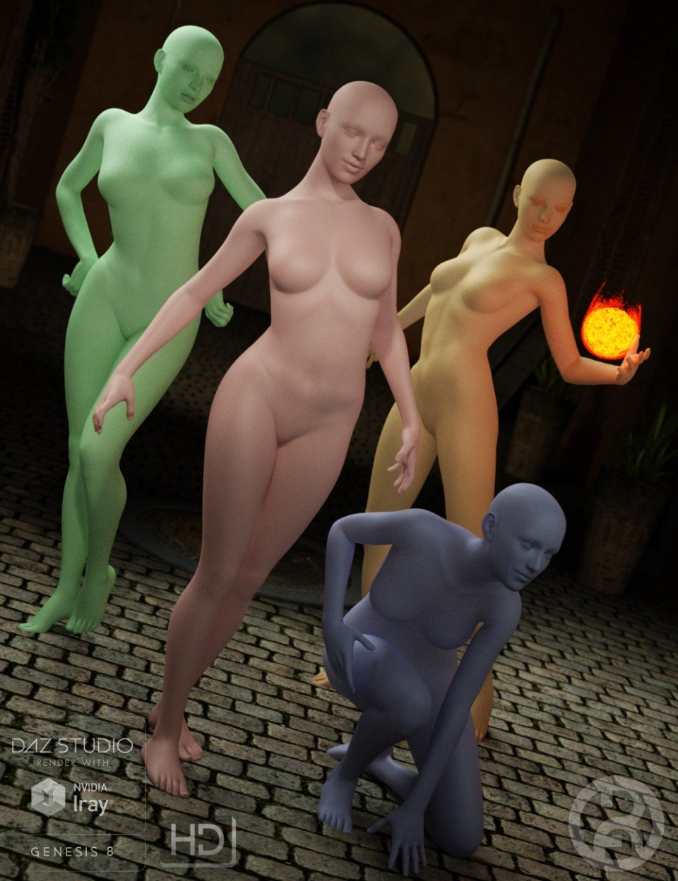 Posapalooza Poses for Genesis 8 Female(s)_DAZ3D下载站