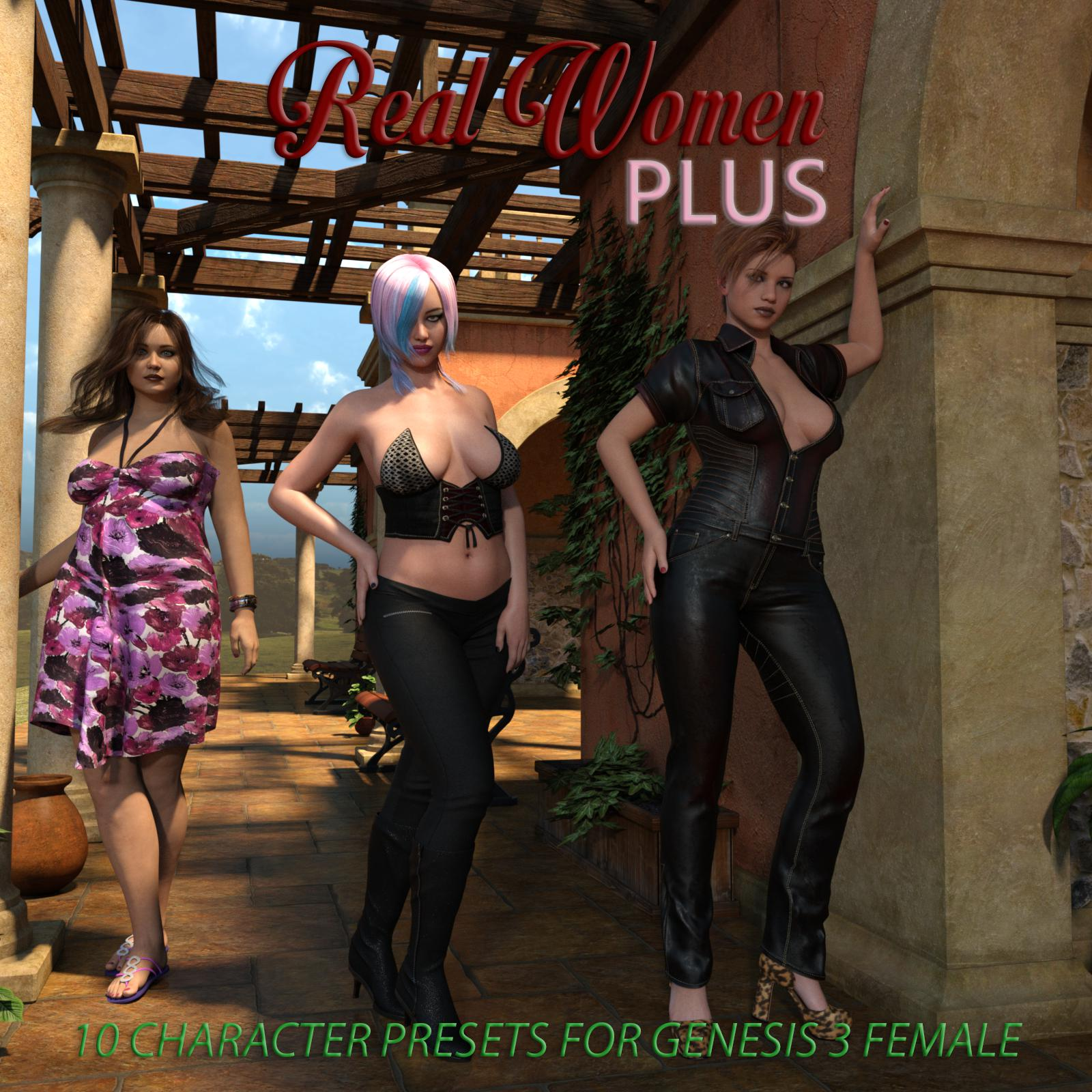 Real Women Plus_DAZ3D下载站
