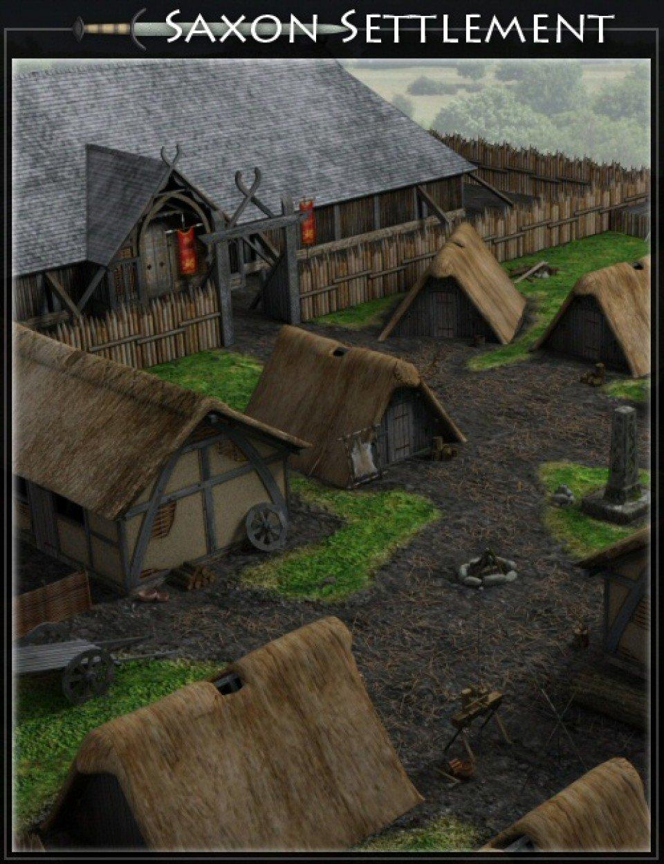 Saxon Settlement by Merlin_DAZ3D下载站