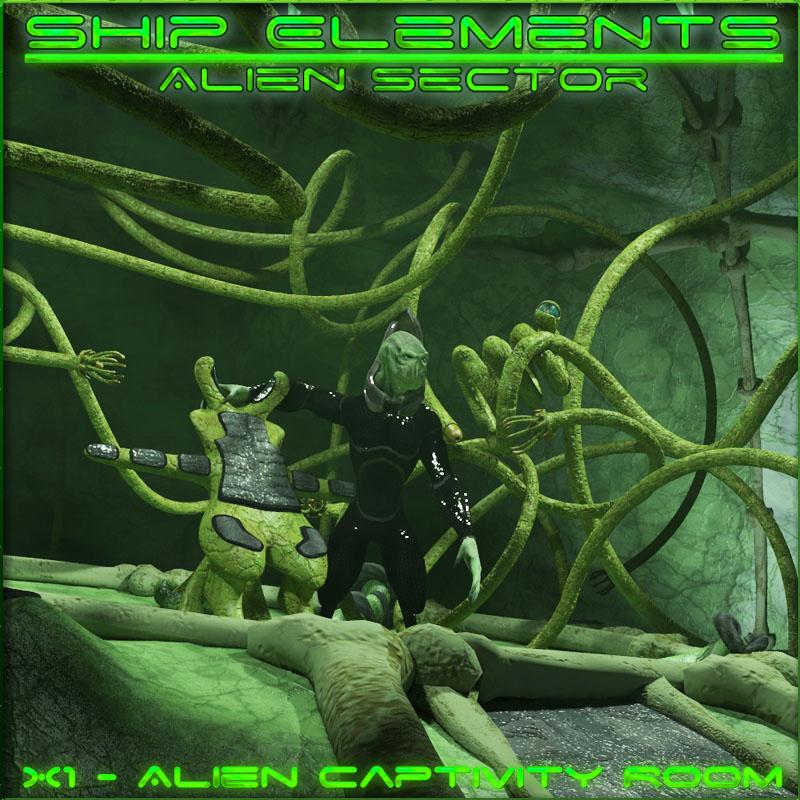 Ship Elements X1: Alien Captivity Room_DAZ3D下载站