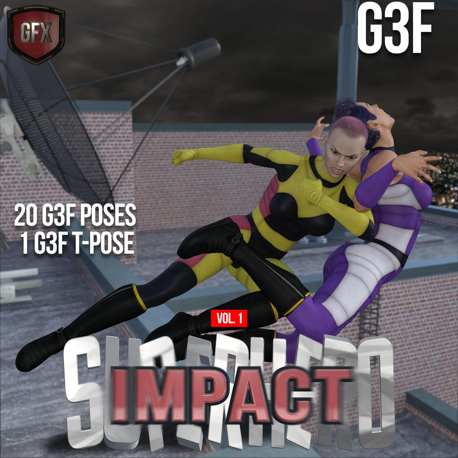 SuperHero Impact for G3F Volume 1_DAZ3D下载站