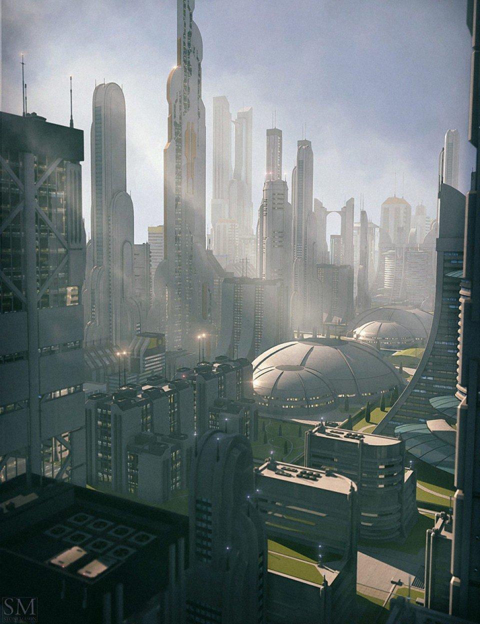 Utopia Cityscape Blocks_DAZ3D下载站