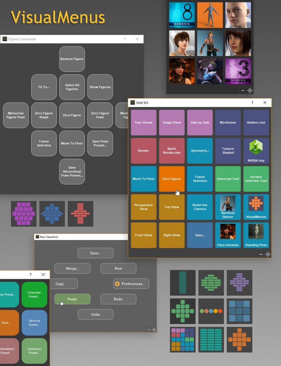 VisualMenus_DAZ3D下载站