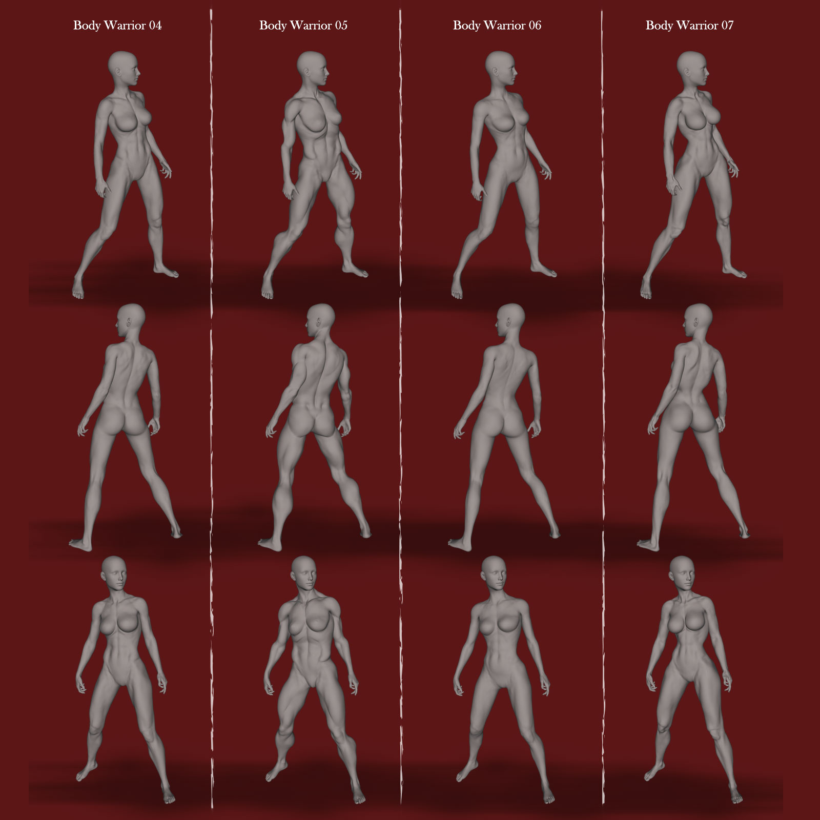 Warrior Body Morphs for Genesis 8 Female_DAZ3D下载站