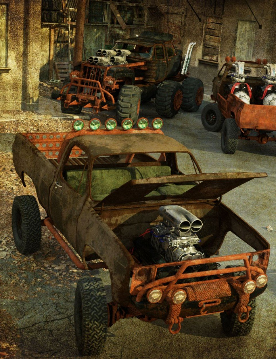 Wasteland Vehicle Construction Set Add-Ons_DAZ3D下载站