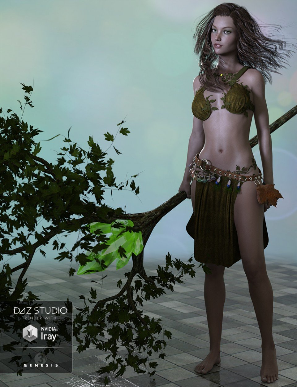 Woodland Elf for Genesis 3 Female(s)_DAZ3D下载站