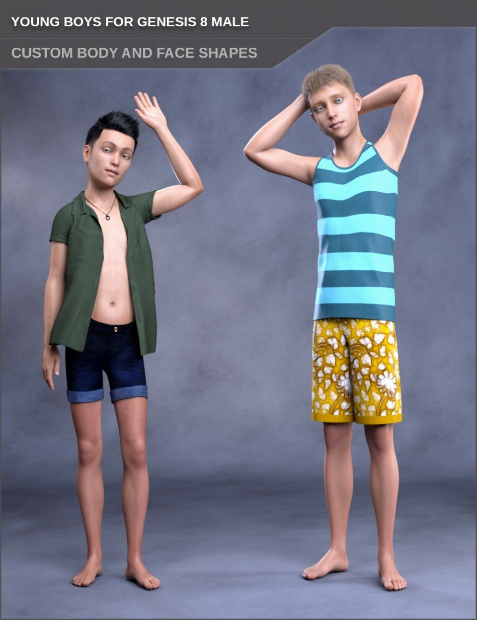 Young Boys for Genesis 8 Male_DAZ3D下载站