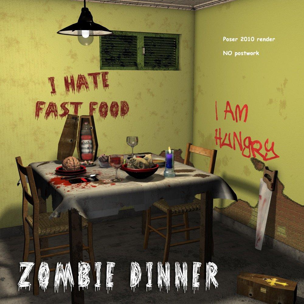 Zombie Dinner_DAZ3D下载站