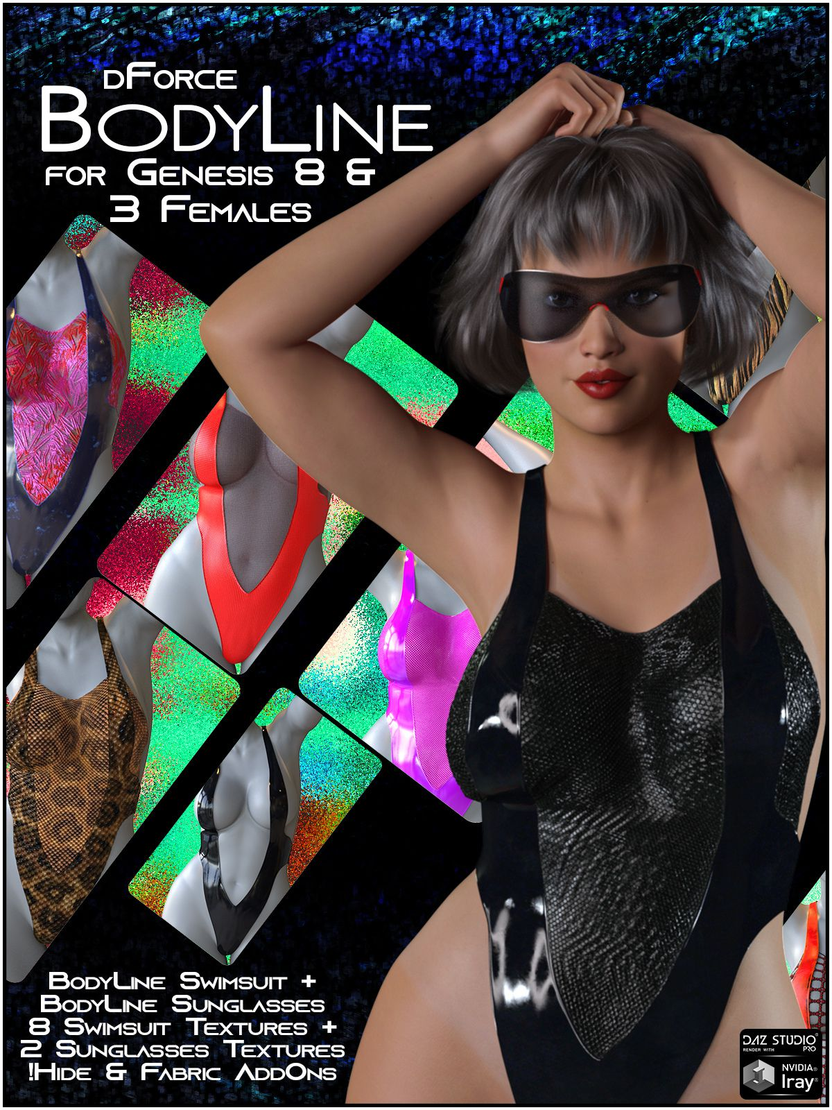dForce BodyLine for Genesis 8 and 3 Females_DAZ3D下载站