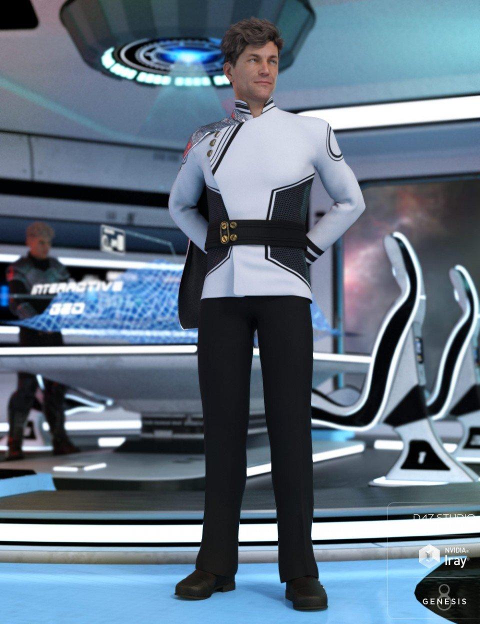 dForce Fleet Commander Outfit for Genesis 8 Male(s)_DAZ3D下载站