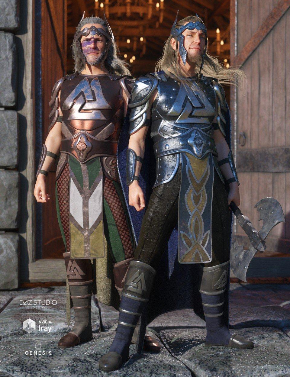 dForce Warrior King Outfit Textures_DAZ3D下载站