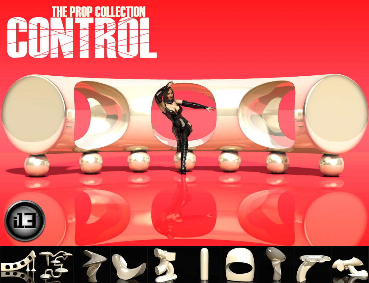 i13 CONTROL – The Prop Collection_DAZ3D下载站