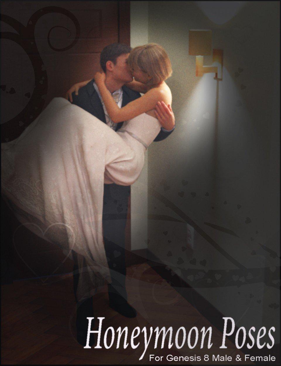 i3D Honeymoon Poses For Genesis 8_DAZ3D下载站