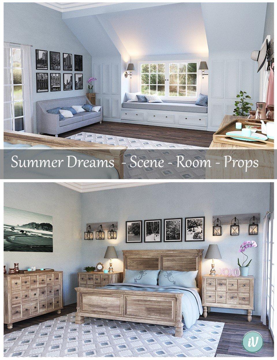 iV Summer Dreams Bedroom_DAZ3D下载站