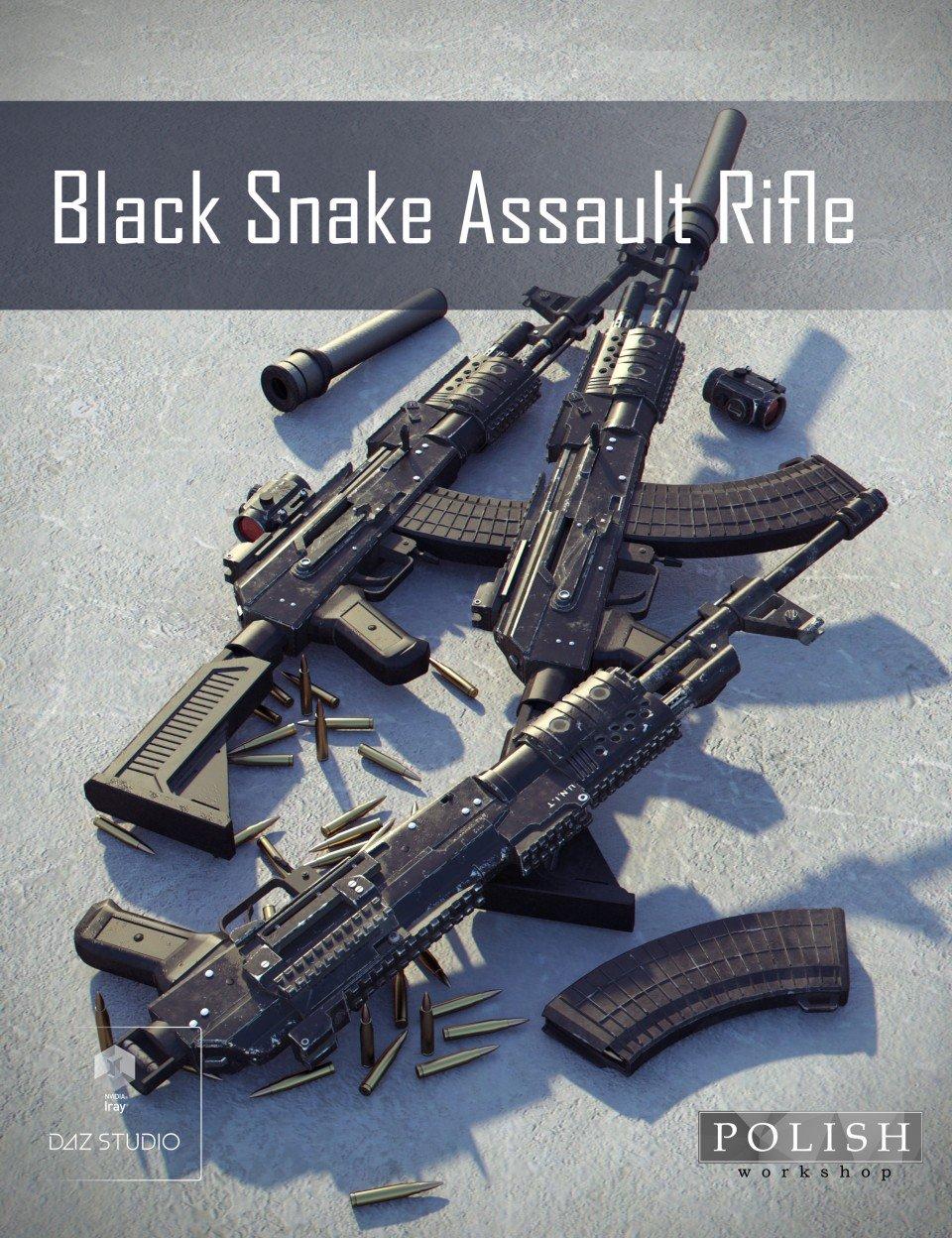 Black Snake Assault Rifle_DAZ3D下载站