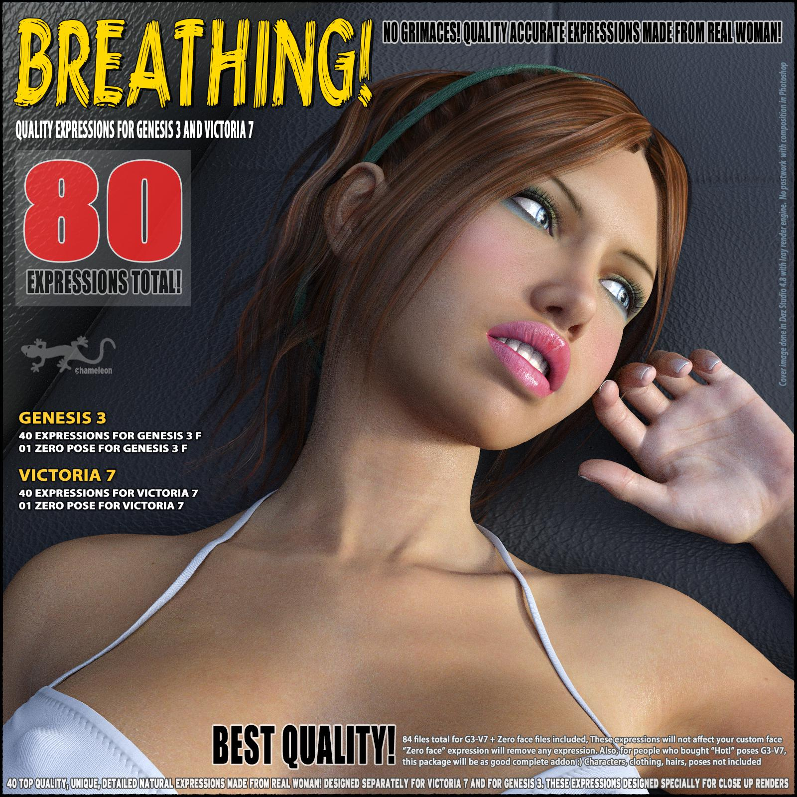 Breathing! – Expressions for G3 And V7_DAZ3D下载站