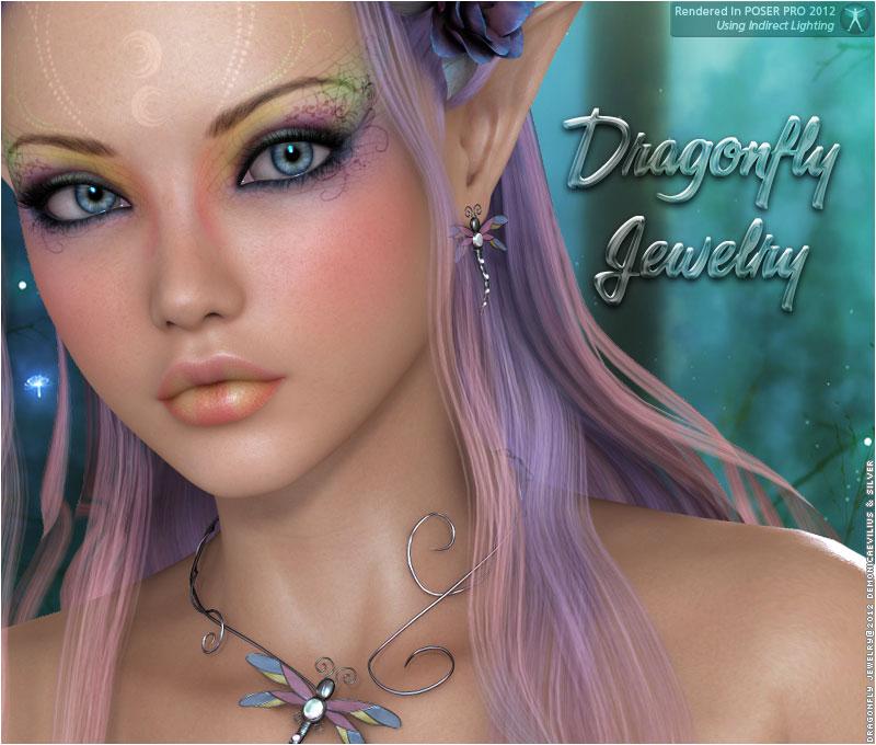 Dragonfly Jewelry V4_DAZ3D下载站