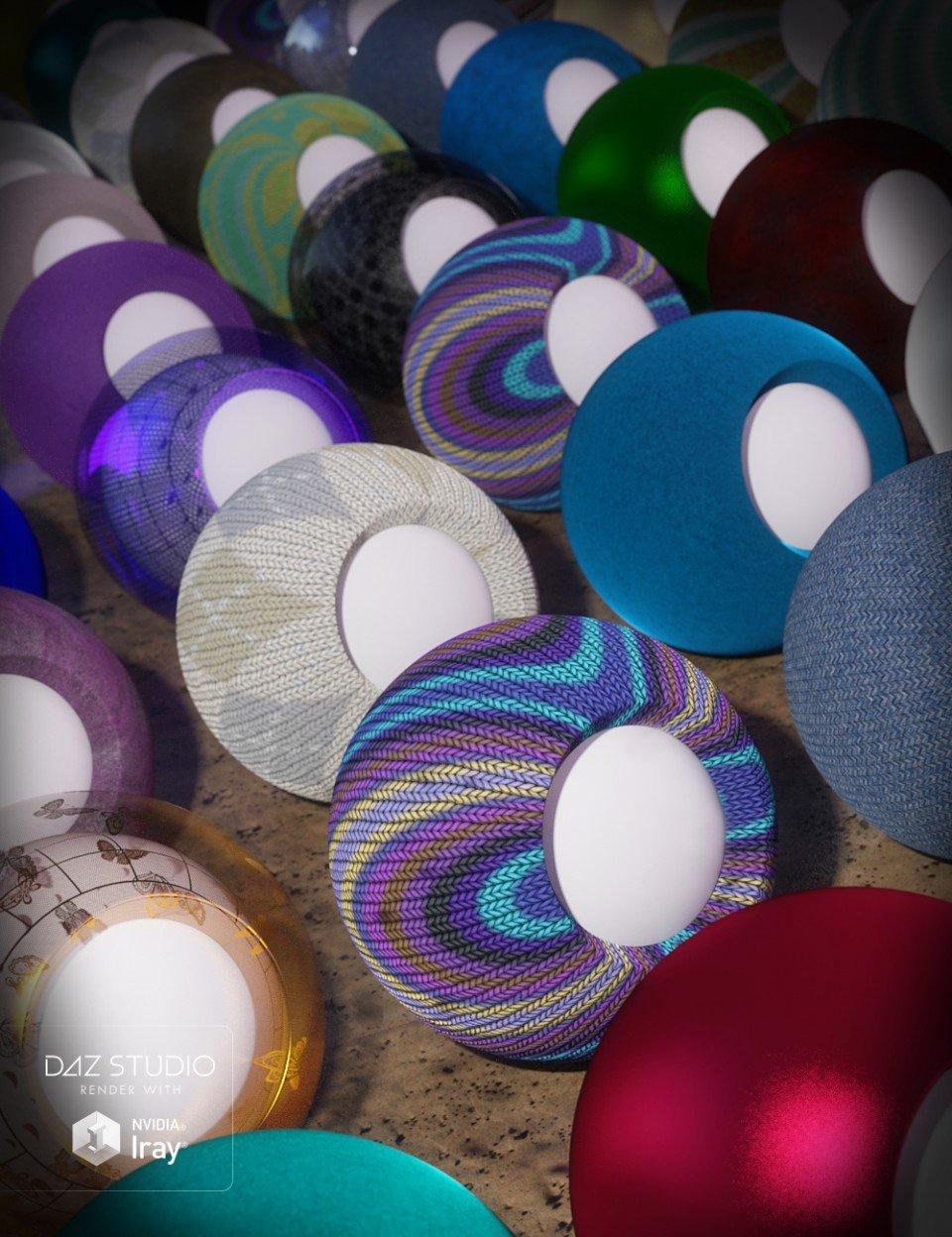 Elegant Fabric Iray Shaders_DAZ3D下载站