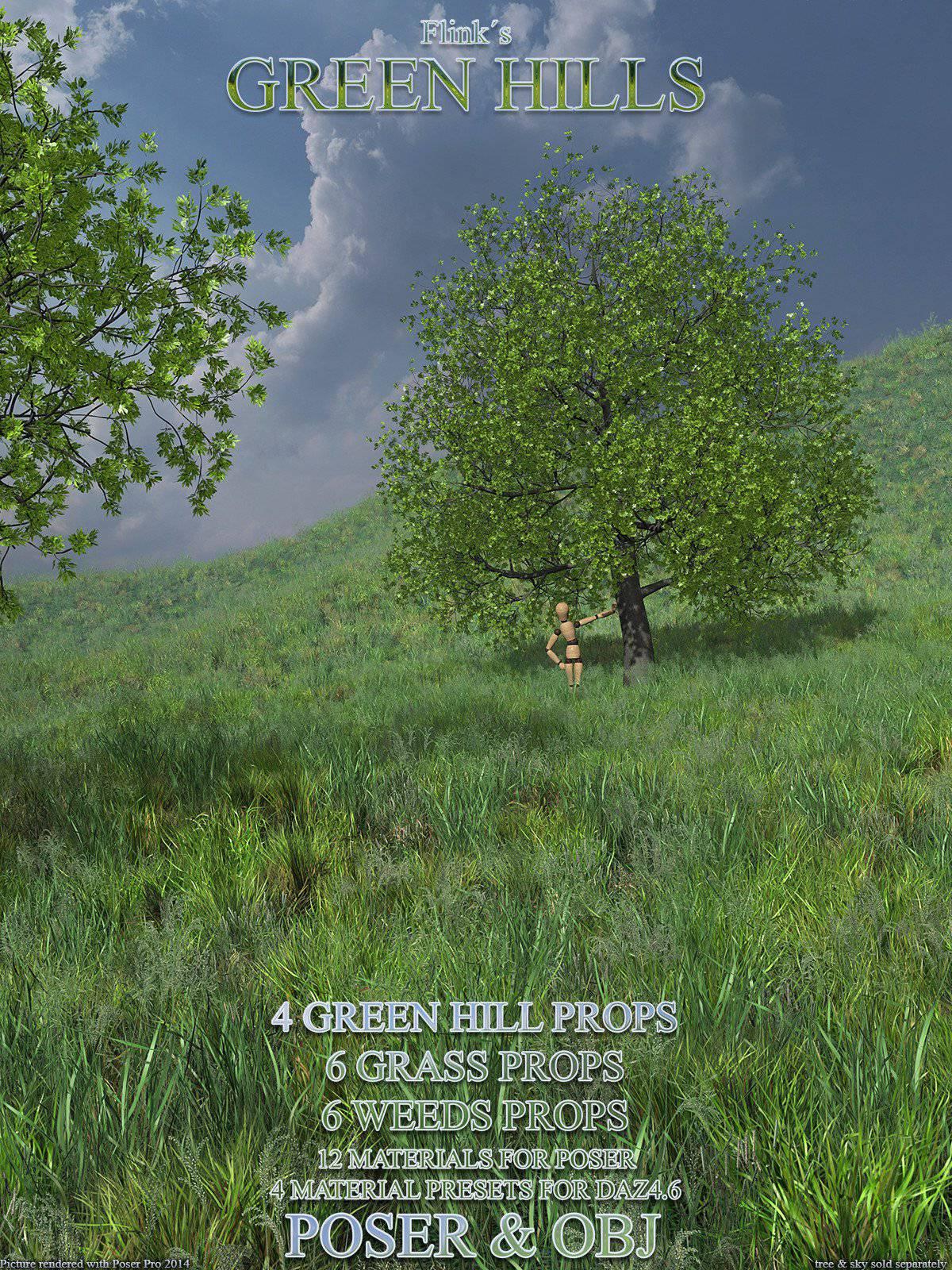Flinks Green Hills_DAZ3D下载站