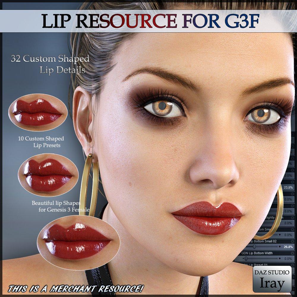 GDN Lip Resource G3F_DAZ3D下载站