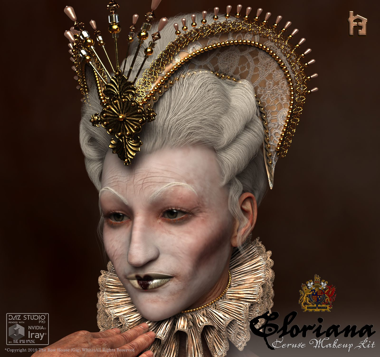 Gloriana Venetian Ceruse Makeup Kit G8F_DAZ3D下载站