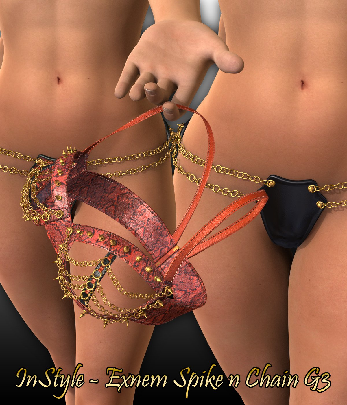 InStyle – Exnem Spike N Chain for G3_DAZ3D下载站