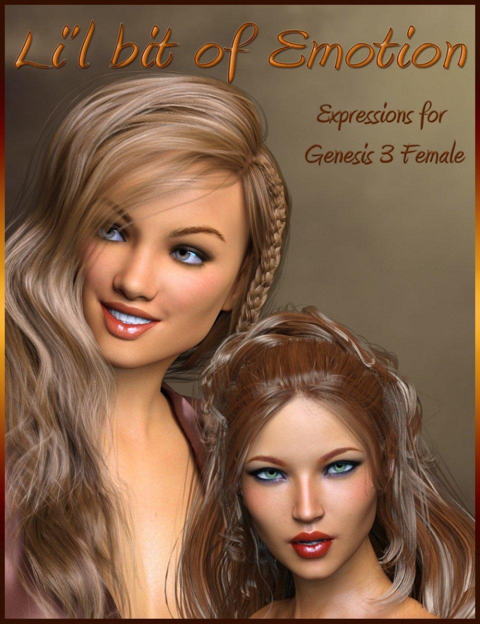 Li'l bit of Emotion for Genesis 3 Female_DAZ3D下载站
