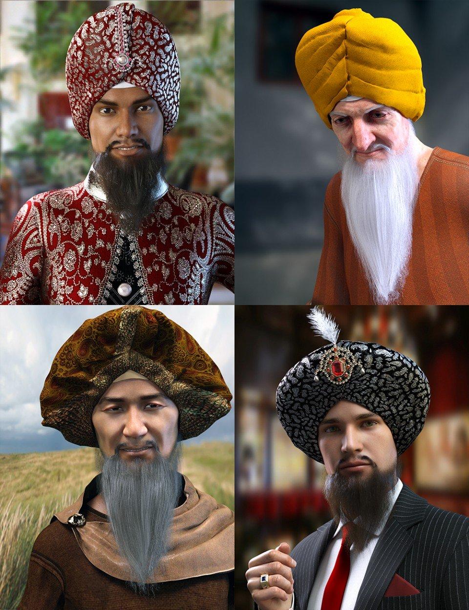Morphing Turban and Beard for Genesis 8 Male(s)_DAZ3D下载站