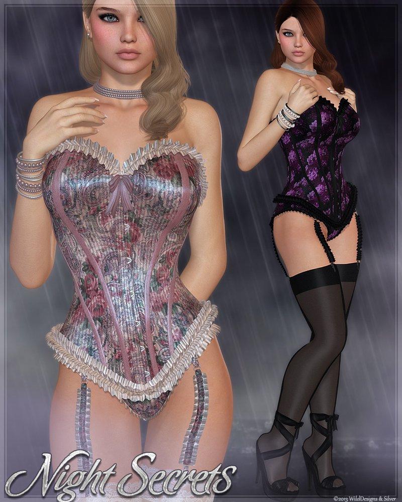 Night Secrets for V4 & Gothic Passion Textures_DAZ3D下载站