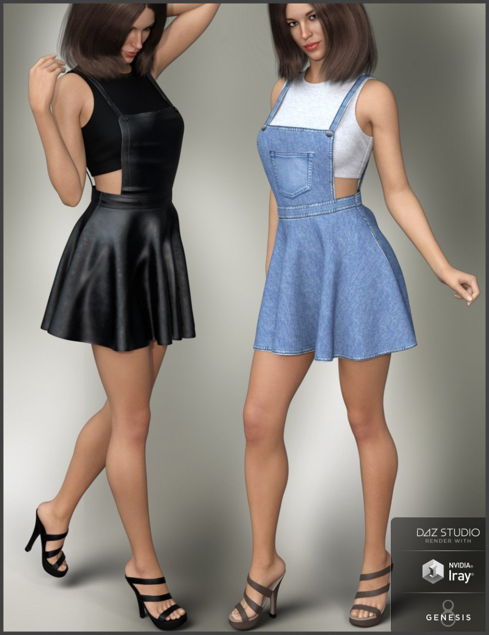 Overall Dress Outfit for Genesis 8 Female(s)_DAZ3D下载站