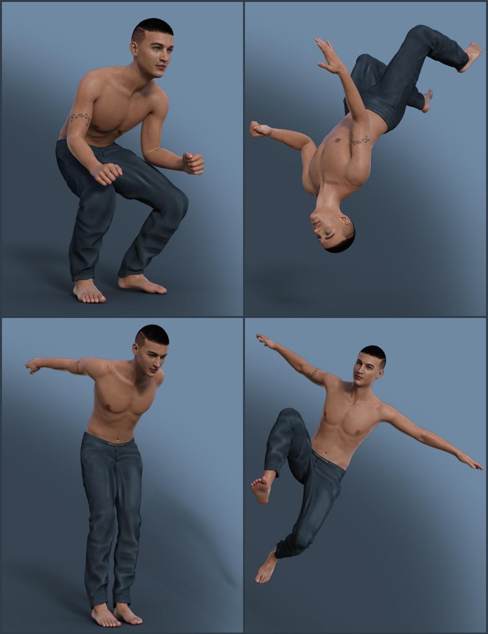 Parkour Poses for Genesis 8 Male(s)_DAZ3D下载站
