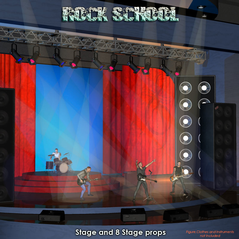 Rock School Stage_DAZ3D下载站