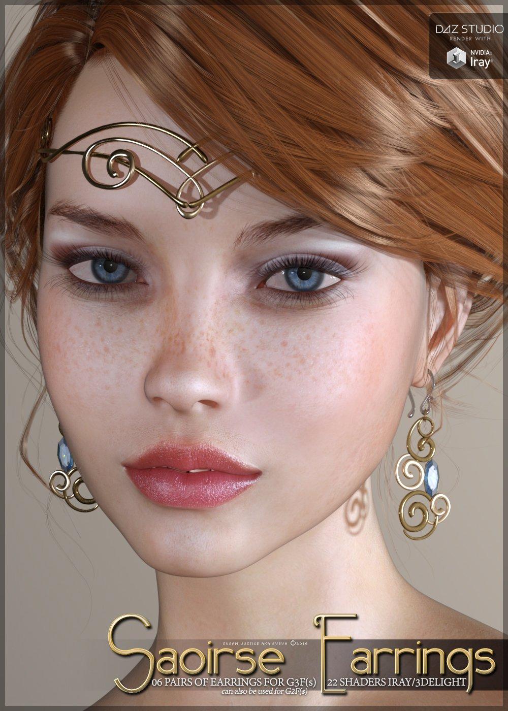 SV's Saoirse Earrings for Genesis 3 Female(s)_DAZ3D下载站