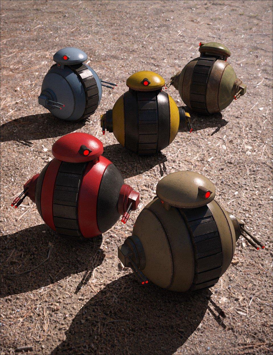 Sci-Fi Mini-Tank Bot_DAZ3D下载站