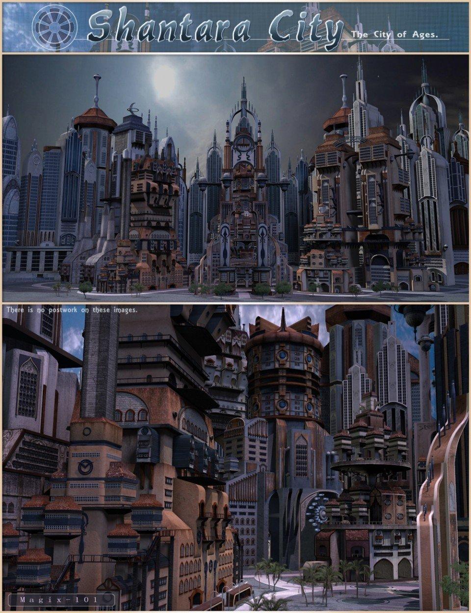 Shantara City & Shantara CityScapes Supreme Add-on_DAZ3D下载站