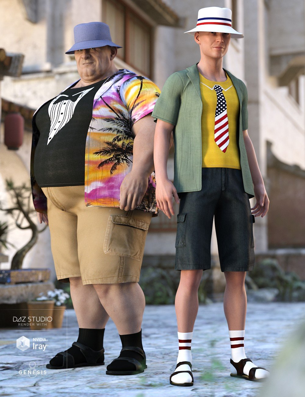 Summer Vacation Outfit Textures_DAZ3D下载站