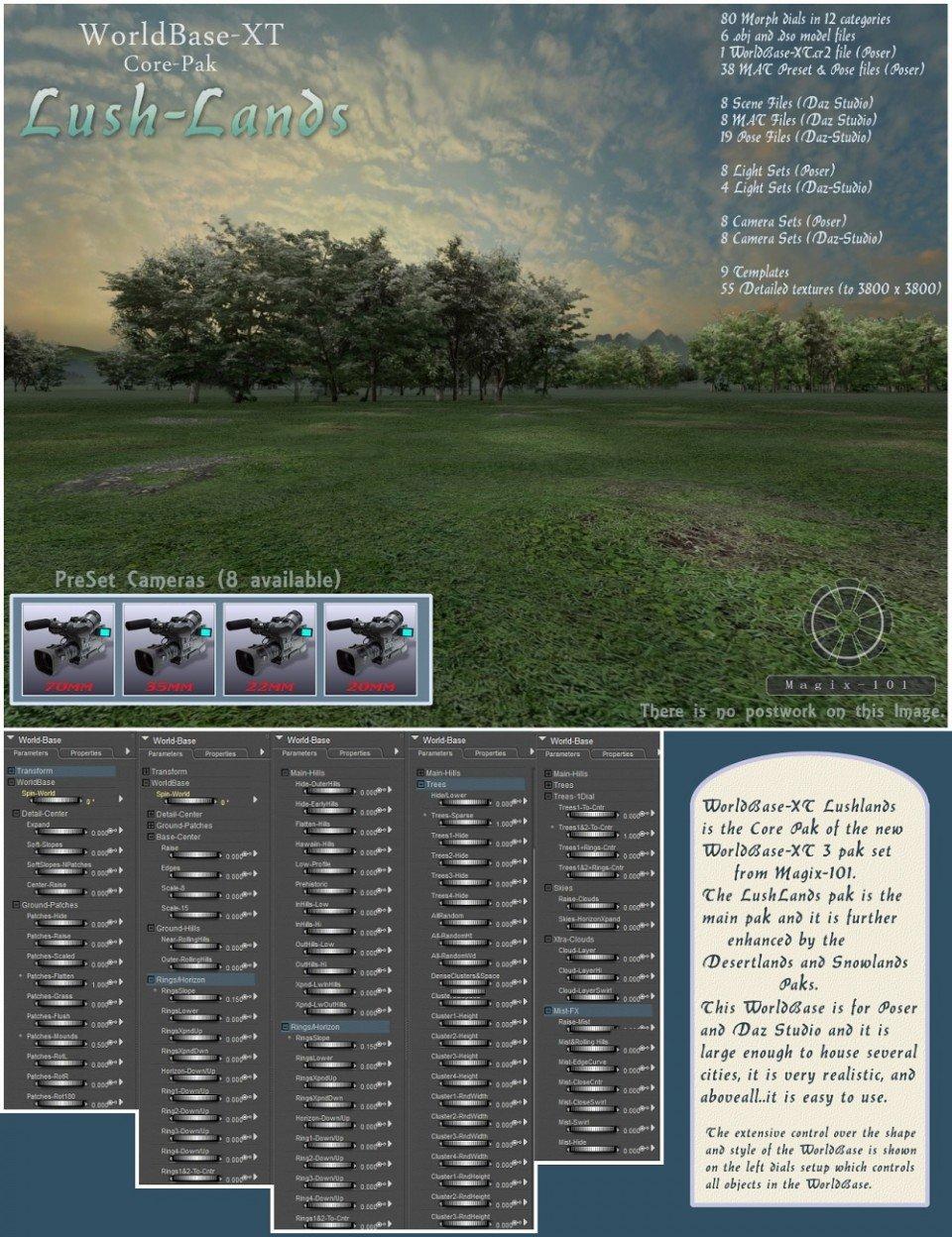 The All New Worldbase XT Lushlands_DAZ3D下载站