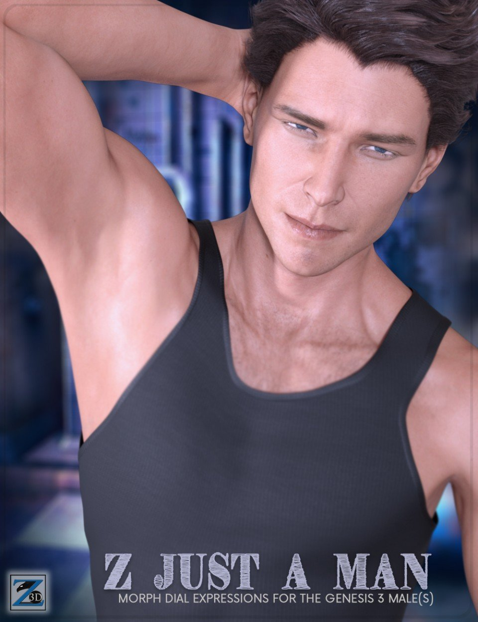 Z Just A Man – Dialable Expressions for the Genesis 3 Male(s)_DAZ3D下载站