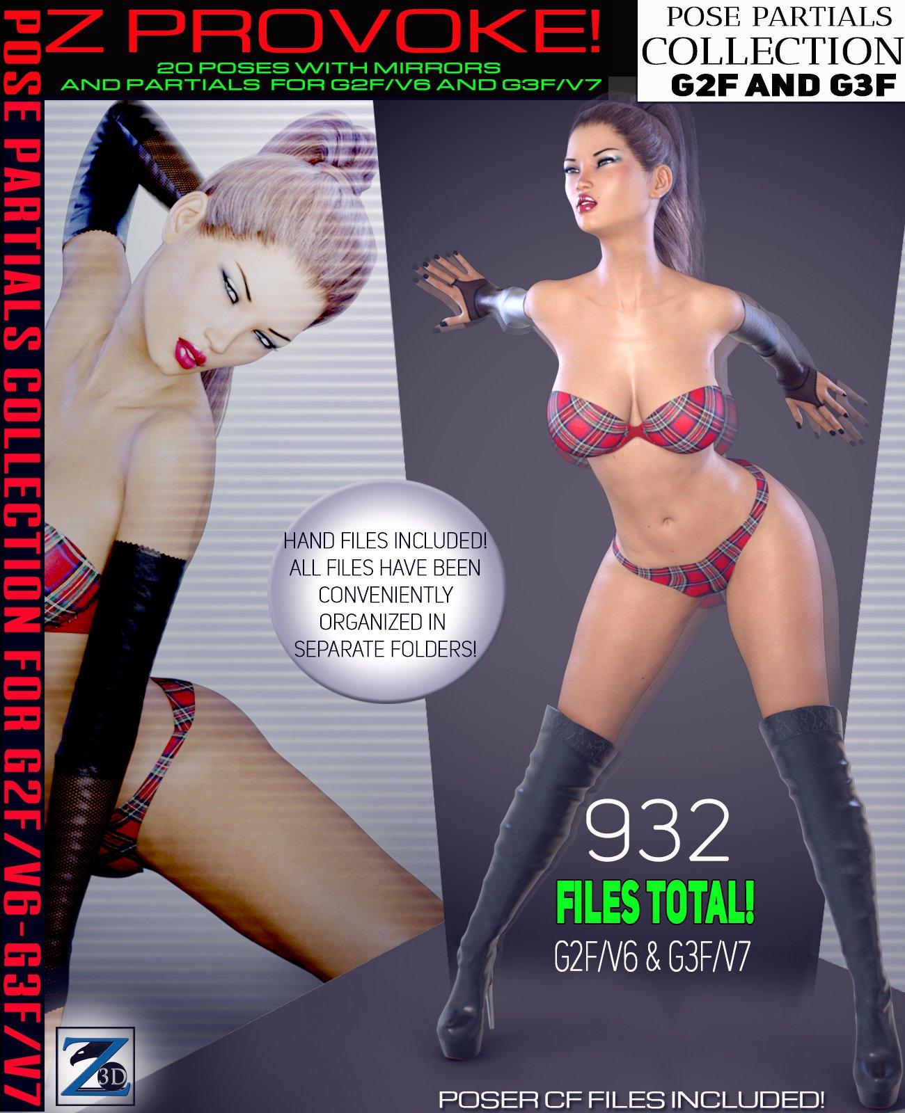 Z Provoke – Pose Separates Collection – G2F-V6/G3F-V7_DAZ3D下载站