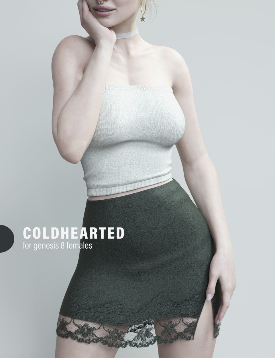 dForce Coldhearted Outfit for Genesis 8 Female(s)_DAZ3D下载站