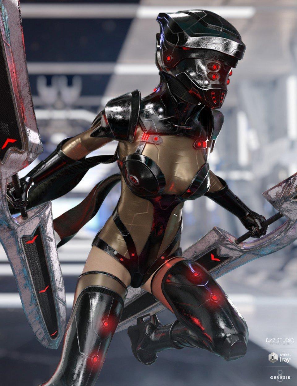 dForce Eva 077 Outfit for Genesis 8 Female(s)_DAZ3D下载站