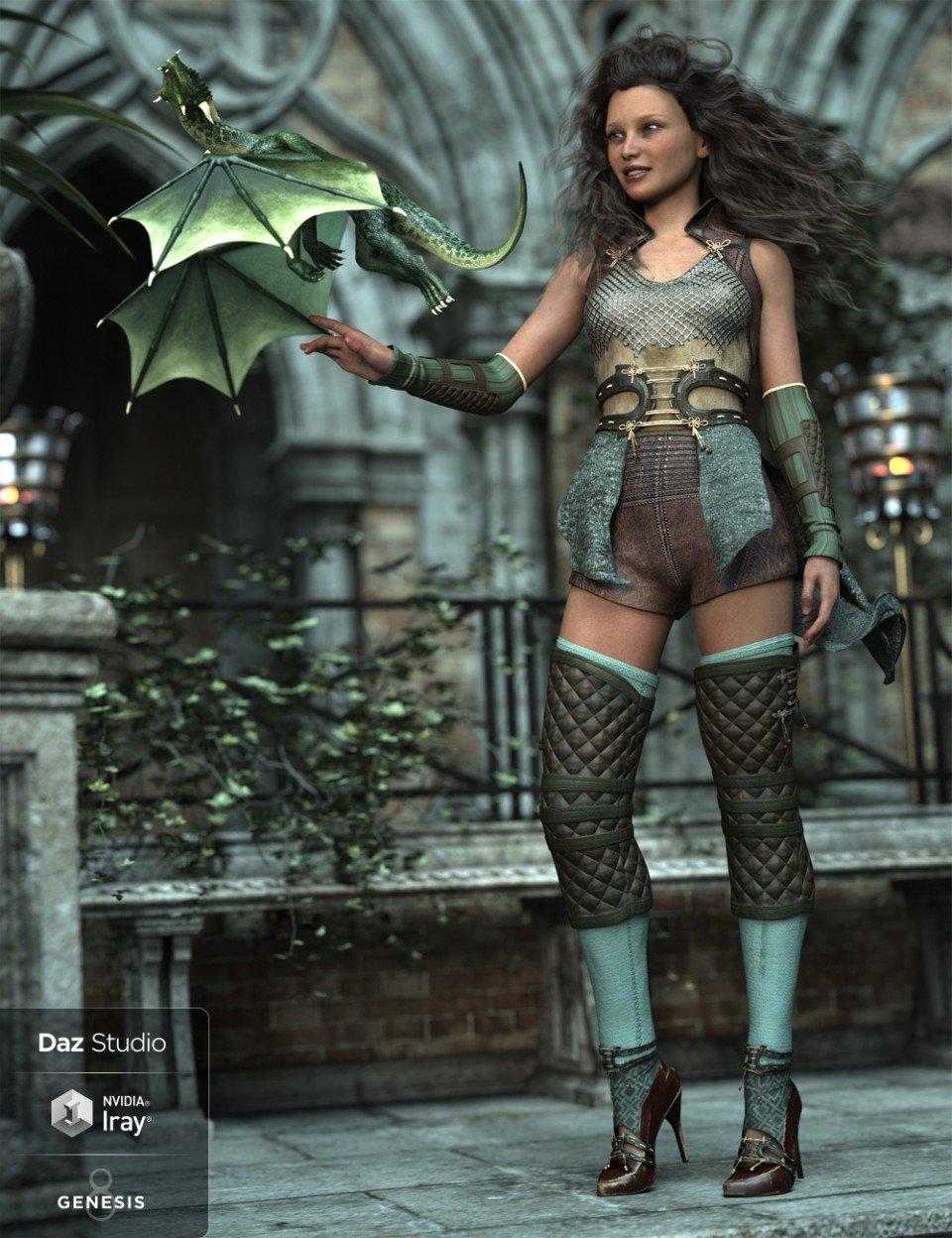 dForce Wind Guardian Outfit for Genesis 8 Female(s)_DAZ3D下载站