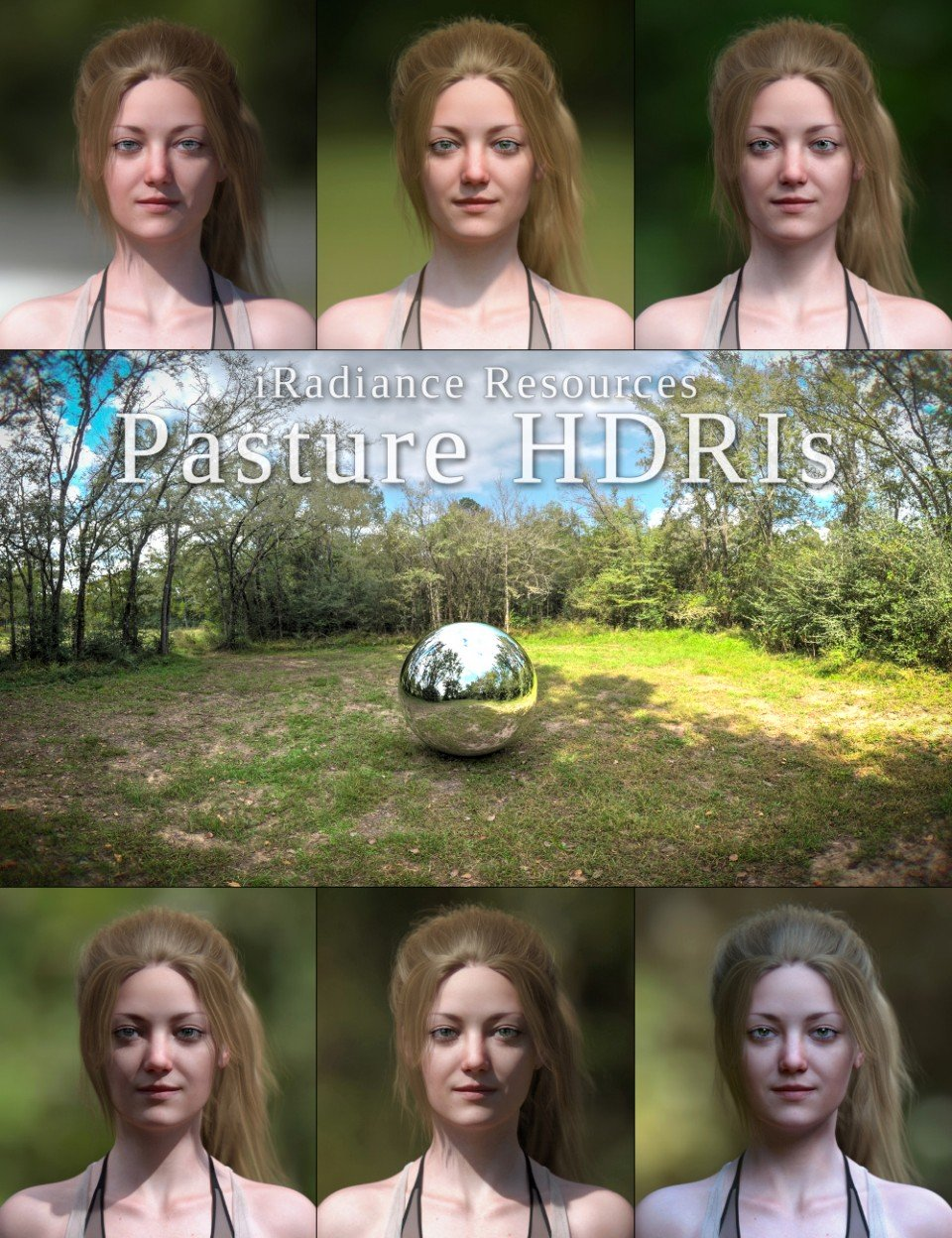 iRadiance HDR Resources – Country Pasture_DAZ3D下载站